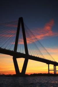 Ravenel Bridge Suilhouette In United States 5k