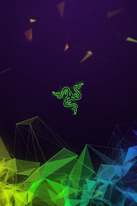 640x960 Razer Colorful Abstract 4k