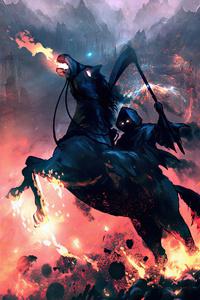 Reaper On Horse 4k