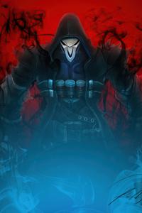 1440x2960 Reaper Overwatch Fanart 4k
