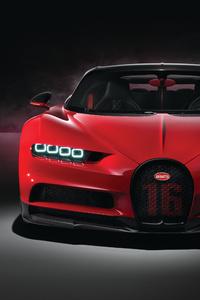 240x400 Red Bugatti Chiron Sport 2018 4k