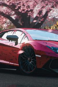 360x640 Red Candy Paint Lamborghini Aventador 4k