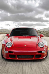 480x800 Red Cherry Porsche 911 5k