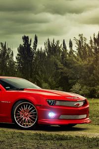 Red Chevrolet Camaro