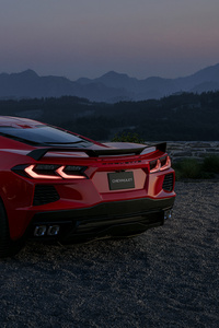 1440x2960 Red Chevrolet Corvette 4k 2021 New