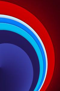 480x854 Red Circle Sun Shape Abstract 8k