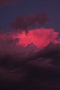 720x1280 Red Clouds Sunset 5k