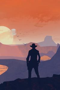 1242x2688 Red Dead Redemption 2 Cowboy 4k