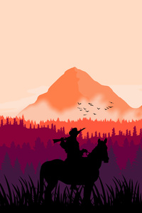 Red Dead Redemption 2 MInimal Art 4k