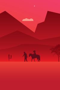 Red Dead Redemption 2 Minimalist Art