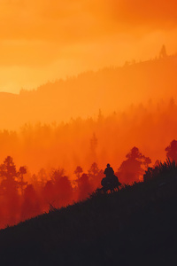800x1280 Red Dead Redemption 2 Sunset Time 8k