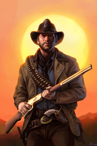 1242x2688 Red Dead Redemption Art