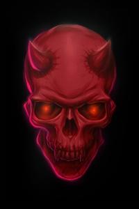 Red Devil Skull 8k