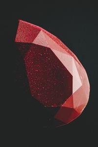 Red Diamond Minimal Dark 5k