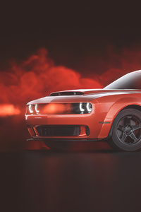 1080x2280 Red Dodge Challenger Demon SRT
