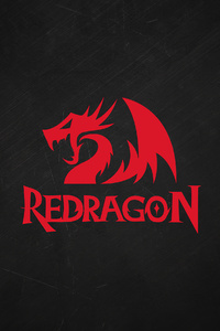 240x320 Red Dragon Minimal Logo 4k