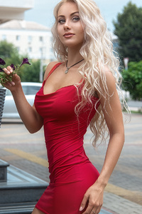 Red Dress Beauty Outdoor