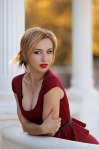 540x960 Red Dress Hot Model Depth Of Field
