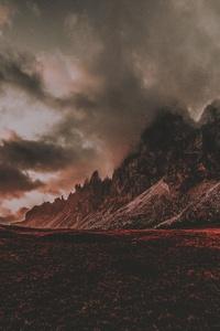 Red Dusk Landscape Mountain Scenic 5k