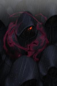 750x1334 Red Eyes Crowds Rain Hoods