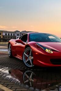 1080x2160 Red Ferrari