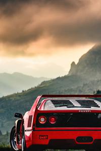 720x1280 Red Ferrari F40