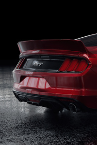 1080x2160 Red Ford Mustang Rear