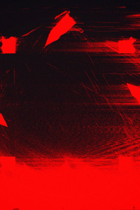 Red Glitch Art Abstract 4k