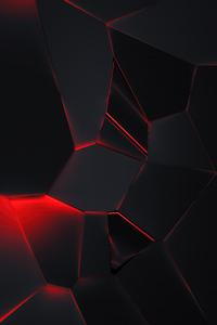 1080x1920 Red Glows 4k