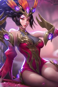 640x1136 Red Goddess