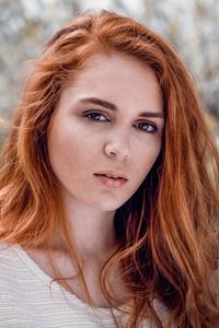 1440x2960 Red Head Girl Portrait 5k
