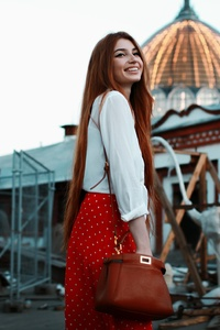 360x640 Red Head Girl Smiling