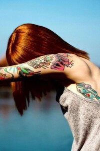 Red Head Tattoo Girl