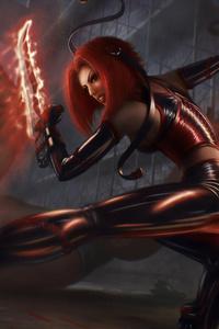 640x1136 Red Head Warrior
