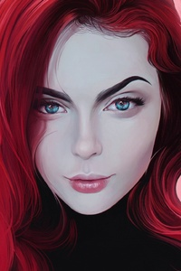 Red Head Women Portrait Digital
