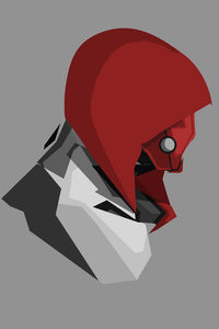 Red Hood 4k Minimalism