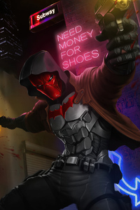 Red Hood Guns Up