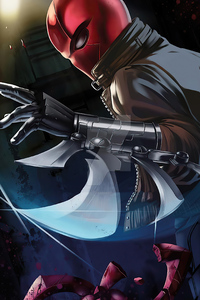 320x480 Red Hood Mask Man