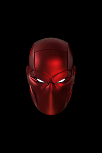 2160x3840 Red Hood Mask Minimal 5k