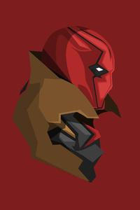 Red Hood Minimalism 4k