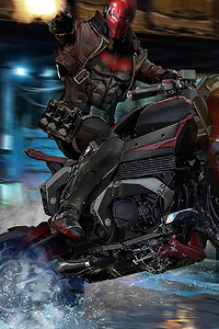 320x568 Red Hood On Bike