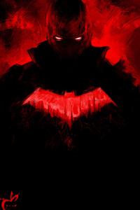 1440x2560 Red Hood Paint Art