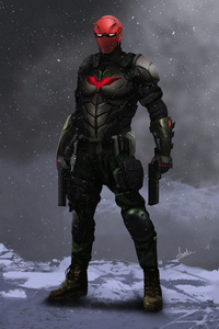 Red Hood Superhero Art