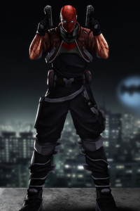 750x1334 Red Hood With Two Guns 4k