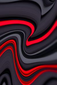 720x1280 Red Inside Grey Design 8k