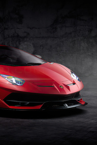 480x800 Red Lamborghini Aventador New