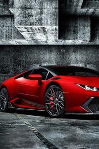 Red Lamborghini Huracan 4k