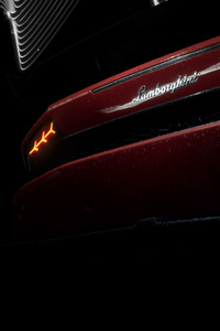 Red Lamborghini Huracan Rear Lights 4k