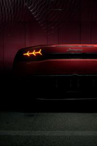 Red Lamborghini Huracan Rear Lights