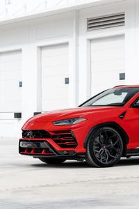 240x320 Red Lamborghini Urus 2019 8k
